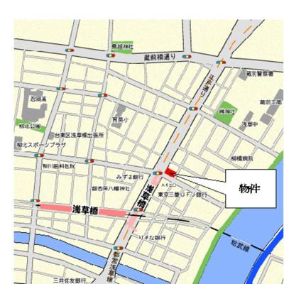 【地図】パークアクシス浅草橋