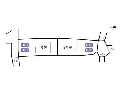 【区画図】姫路市香寺町溝口/全2棟