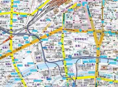 【地図】エトワール北新地