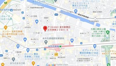 【地図】エトワール本所吾妻橋