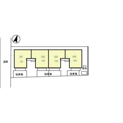【区画図】プリムヴェールデュオ