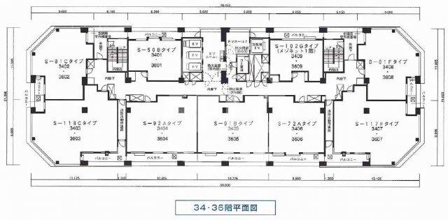S-50Bタイプは両隣に住戸がない独立部屋です オーナーチェンジ物件 月額賃料:200,000円  想定年収:2,400,000円  表面利回り:5.34%