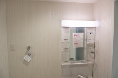 洗面化粧台新調済です。
