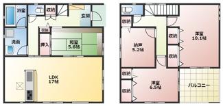高浜市神明町第4新築分譲住宅19号棟間取りです。