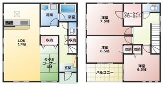 高浜市神明町第4新築分譲住宅18号棟間取りです