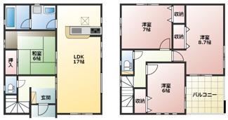 高浜市神明町第4新築分譲住宅16号棟間取りです