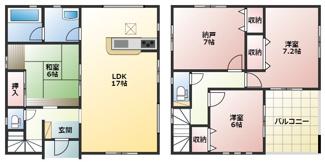 高浜市神明町第4新築分譲住宅14号棟間取りです