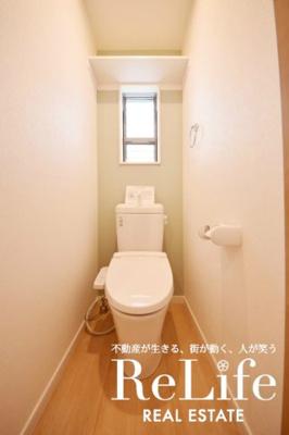 WC 温水洗浄便座機能付き 小窓付き