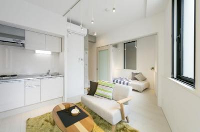 【居間・リビング】EXAM若林 築浅 浴室乾燥機 デザイナーズ オートロック