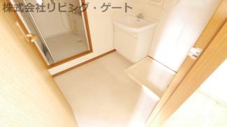 広めの洗面所。独立しているのが嬉しいですね。