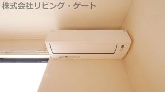 リビングにエアコンがあります。