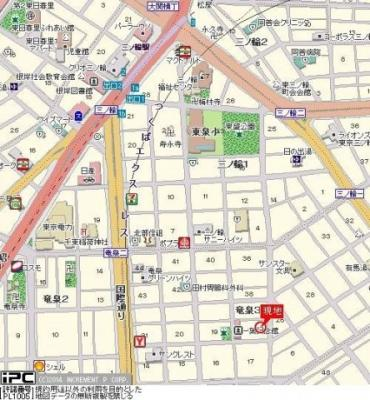 【地図】三の輪シティハウス