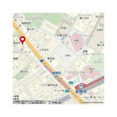 【地図】イーグル巣鴨