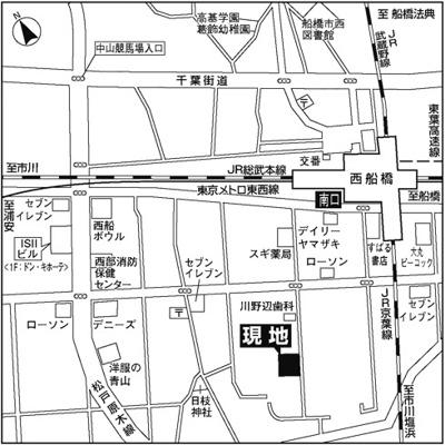 【地図】レ・ソール西船橋