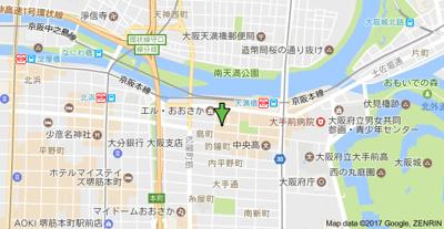 【地図】アスヴェル天満橋