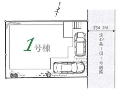 カースペースは2台駐車可能(車種による)です。