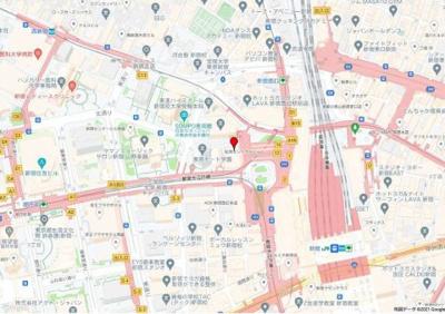 【地図】松岡セントラルビル