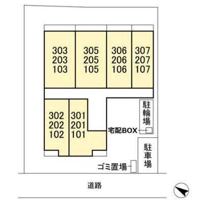 【区画図】AXIS北松戸