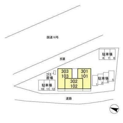 【区画図】ヴェルデ大島田