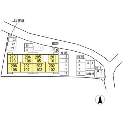 【区画図】パディコート下城野