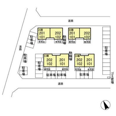 【区画図】ベル・アジュール A棟