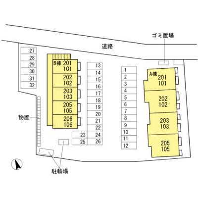 【区画図】ドリーム・レセンテA