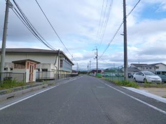 【前面道路含む現地写真】野洲市三上 3号地 売土地