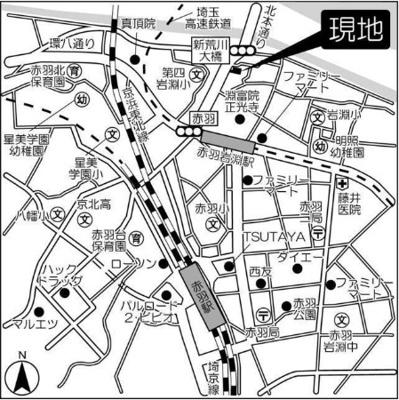【地図】コンフォリア赤羽岩淵