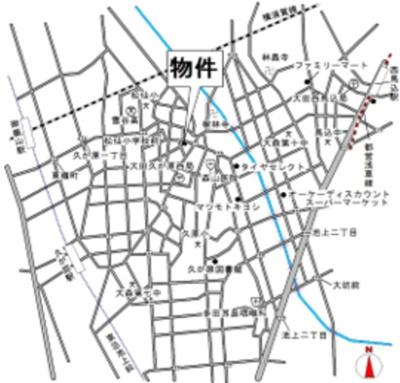 【地図】グレイス久が原