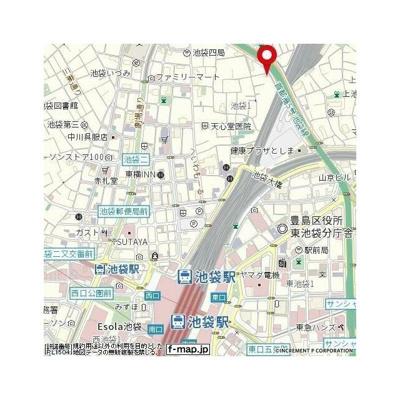 【地図】ハーモニーレジデンス池袋