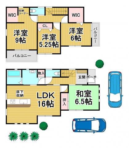 ファーストタウン糸島市高田1丁目1号棟 4LDKオール電化住宅