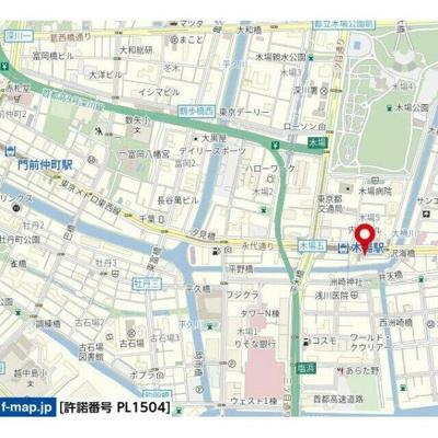 【地図】ハーモニーレジデンス木場ステーションフロント