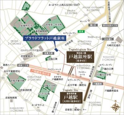 【地図】プラウドフラット戸越銀座