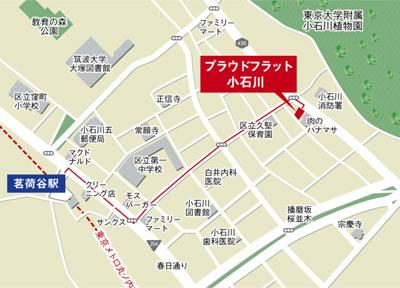 【地図】プラウドフラット小石川