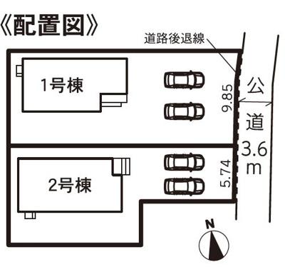 【区画図】浜松市南区新橋町 5期 新築一戸建て 1号棟 HM