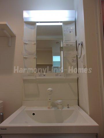 ハーモニーテラス蓮沼町の独立洗面台あり、毎朝おしゃれに忙しい女性の方におすすめです