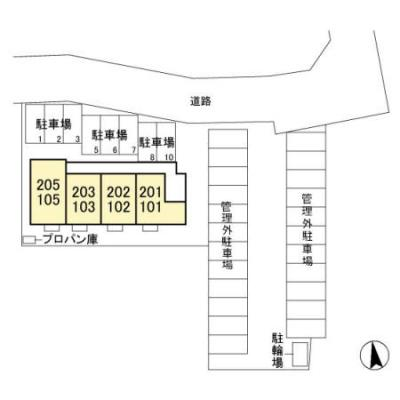 【区画図】前橋市天川原町 前橋駅 1階 1LDK
