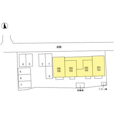 【区画図】高崎市上小鳥町 北高崎駅 1階 1LDK
