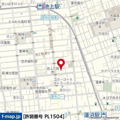 【地図】ベルサイユ池上第2