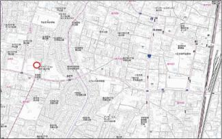 【地図】宇都宮市五代二丁目 売地