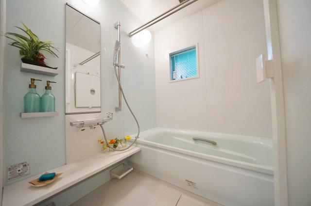 段差の少ない1階洗面スペースです