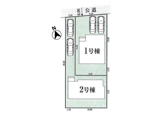 【区画図】瑞穂町箱根ヶ崎東松原 新築一戸建て 全2棟 1号棟