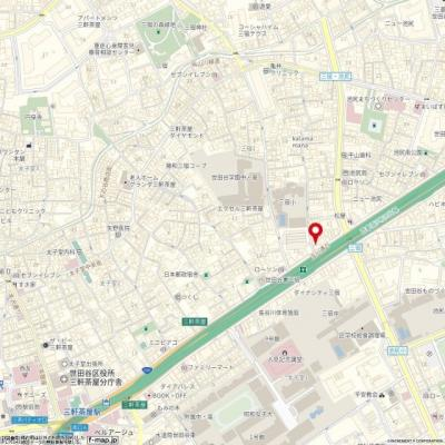【地図】ステージファースト三宿