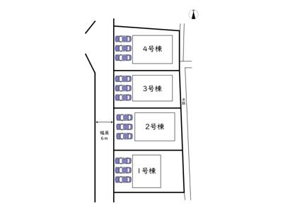 【区画図】姫路市網干区浜田 第8/全4棟