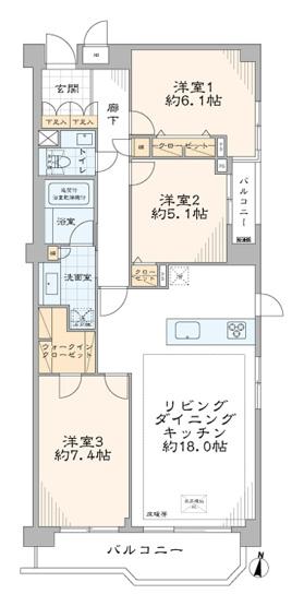 パーク・ハイム中野富士見町:最上階・南東角部屋につき陽当り・眺望良好な3LDKエアコン付きリノベーション物件はフラット35s&住宅ローン控除利用可能です!