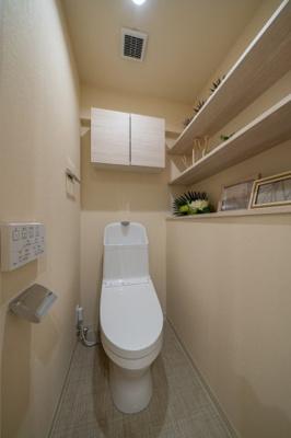 【トイレ】❖都心に近い♪リノベマンション☆DEN&WIC☆重厚感 玄関大理石【パーク・ノヴァ池袋要町】❖