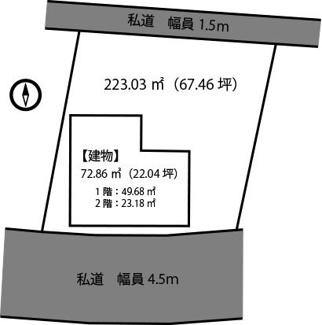【区画図】富津戸建住宅