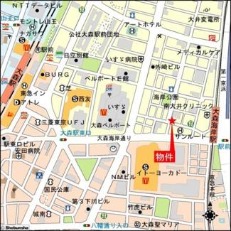 【地図】TS大森ハイム