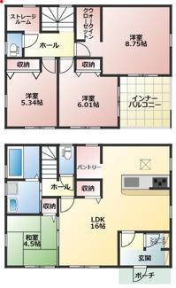 高浜第38八幡町新築分譲住宅間取りです。