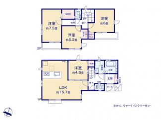 1号棟:間取り変更が容易なスケルトンインフィル住宅の4LDK